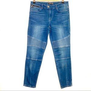 GUESS Veronique Biker Jeans Moto Stitching Sz 31